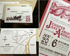 vintage playbill wedding invites - perfect for Anderson Theater