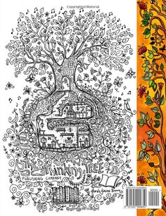 A Coloring Book for Adults and Children - Secret Village: Extra ...