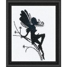 COUPON  Cross Stitch Kit  Fairy Silhouettes by CrossStitchKitsOnly, $11.00