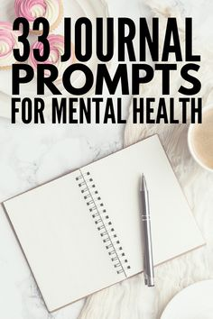 Journaling for Depression and Anxiety: 33 Journal Prompts fo.- Journaling for Depression and Anxiety: 33 Journal Prompts for Mental Health 33 Journal Prompts for Depression Mental Health Journal, Mental Health Issues, Mental Health Awareness, Mental Health Questions, Mental Health Blogs, Depression Journal, Depression Help, Journaling, Ideas