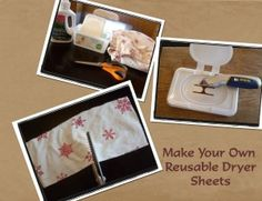 DIY dryer sheets and fabric softener spray