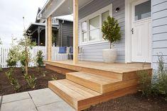 The Block front garden reveal House Deck, House Front, Wombat, Porches, Front Door Plants, Front Doors, Moving Out Of Home, Front Deck, Front Porch