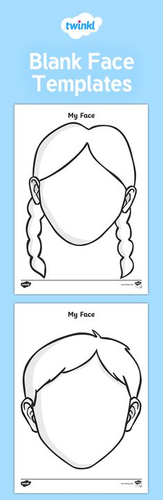 A set of helpful printable blank face templates, useful to aid teaching of topics such as All About Me, giving children the opportunity to draw self-portraits in a ready-made template. Preschool Number Worksheets, School Worksheets, Preschool Printables, Free Printables, Sensory Activities Toddlers, Preschool Learning Activities, Baby Sensory, Teaching Kids, Body Parts Preschool