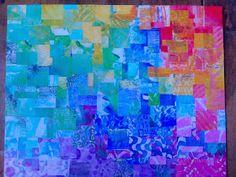 Gelli plate monoprint collage