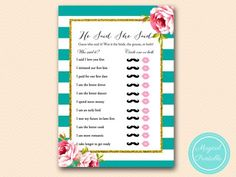 BS13-he-said-she-said-floral-teal-stripes-bridal-shower-game