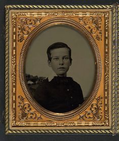 [Private Charles H. Bickford of B Company, 2nd Massachusetts Infantry Regiment as a young boy] (LOC) by The Library of Congress, via Flickr