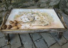 Decoupage tutorial - DIY. How to make old wood texture. How to decorate ...