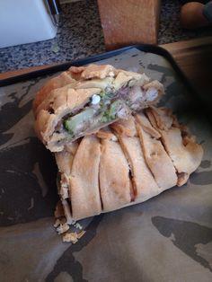 Gluten free Chicken mushroom and broccoli plait
