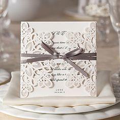 Convites de casamento Cartões de convite Dobrados Não personalizado 50 Peça/Conjunto - USD $ 47.99