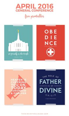 """Looking for a way to add a modern twist on LDS quotes? Then these free 8""""x10"""" printables from April 2016 General Conference are exactly what you need. Print them out and have them hanging in your home in no time flat!"""