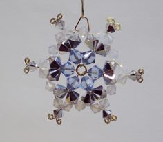 I just listed 3 Inch Swarovski Crystal Snowflake Ornament Light Blue - Smoke AB on Gold Wire on The CraftStar $15 @TheCraftStar #uniquegifts