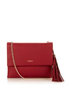 Sugar tassel mini leather shoulder bag by Lanvin | Shop now at #MATCHESFASHION.COM