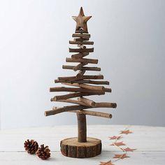 Kerst trend: de houten kerstboom