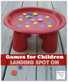 Simple household items and office supplies can be used to create games for children that will have them working on fine motor skills and having tons of fun.