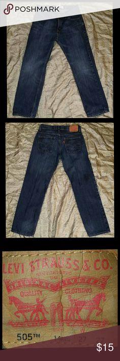 "Levi's 505 Boys size 14 reg 505 Levi's in perfect condition.  27""W 27""L Levi's Bottoms Jeans"