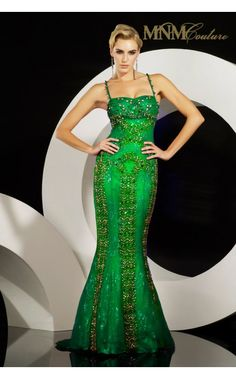 MNM couture sweetheart neckline fully beaded mermaid dress