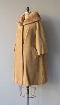 Lilli Ann mohair coat fur collar 1960s coat by DearGolden