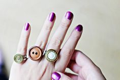 Use your old buttons to create cute, unique and personalised rings! Very easy less than 5 minutes diy included!