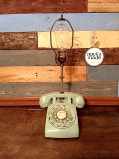 A personal favorite from my Etsy shop https://www.etsy.com/listing/232702402/vintage-rotary-phone-lamp