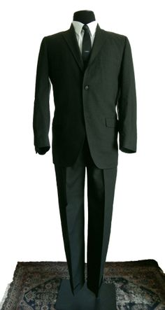 Mid vintage worsted wool two piece suit from Wallachs, New York, circa 1960s Fashion Mens, Vintage Fashion, Barefoot In The Park, Sweet Charity, Mens Suits, Nice Dresses, Vintage Outfits, Suit Jacket, Menswear