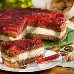 Himbeer-Walnuss-Torte