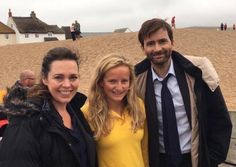 #Broadchurch 3 on set - 2 September 2016 #Westbay — Hurrah they're back! And one lucky lady, a life guard for the RNLI, managed to wangle a pic with the troublesome twosome. Also, Olivia Colman appears to be growing a small man on her back! ;) Source: RNLI / Bridport News
