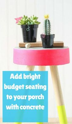 Add Bright Budget Seating to Your Porch With Concrete