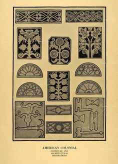 furniture motifs. American Colonial Furniture Motifs Y