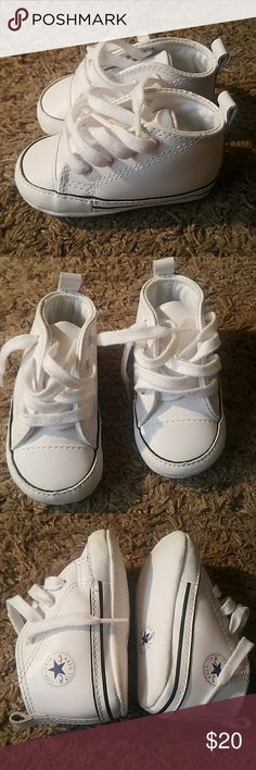 Baby leather Converses Size 3c Good Condition  Smoke and pet free home  Unisex Shoes Sneakers