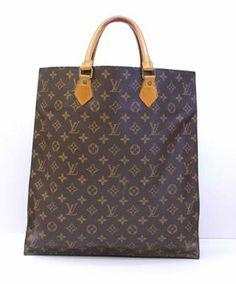 Louis Vuitton Monogram Sac Plat Hand Brown Tote Bag $589