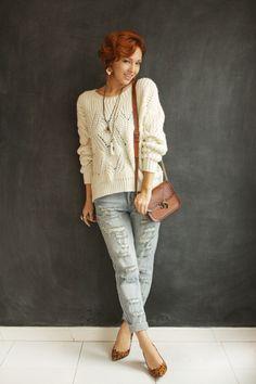 Look do dia: tricô e jeans rasgado - Blog De repente Tamy Blog De repente Tamy