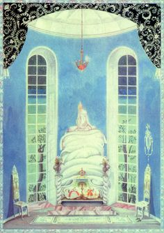 The Princess and the Pea by Kay Nielsen. This link has a wonderful explanation of the fairy tale by XineAnn, as well as Keats.