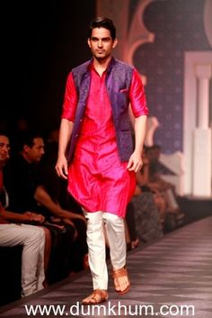 Seen at Aamby Valley India Bridal Fashion Week - Day 3- Model in a Raghavendra Rathore creation
