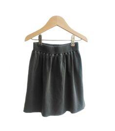 Falda gris antracita
