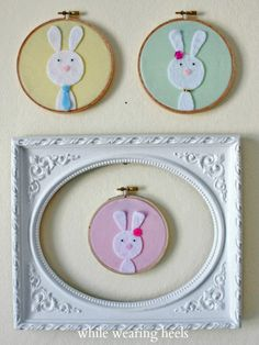 DIY Easter craft: Felt Custom Easter Bunny Family   While Wearing Heels