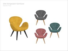 Living chair Swan Found in TSR Category 'Sims 4 Living Chairs' Sims 4 Cc Furniture Living Rooms, Mod Furniture, Diy Kids Furniture, Sims 4 Tsr, My Sims, Sims Cc, Muebles Sims 4 Cc, Sims 4 Kitchen, Sims 4 Cc Kids Clothing