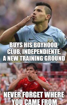 Respect to Aguero!