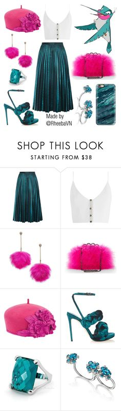 """""""Flit"""" by rheebavn ❤ liked on Polyvore featuring Zimmermann, Betsey Johnson, BCBGMAXAZRIA, San Diego Hat Co., Marco de Vincenzo and Casetify"""