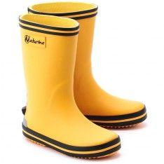 Rain - Żółte Gumowe Kalosze Dziecięce - 0013500986.01.9103