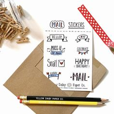 Mail Sticker Sheet, Vinyl Stickers Variety Sticker Set - NEW Funny Thank You Cards, Birthday Cards For Boyfriend, Packaging Stickers, Waterproof Stickers, Funny Birthday Cards, Happy Mail, Papers Co, Halloween Gifts, Envelopes