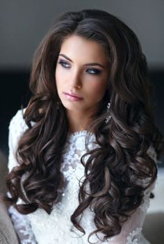 These are technically wedding hairstyles, but you could use these classic looks for your beauty pageant hair as well! Wedding Hairstyles with Pure Elegance - Hairstyle: Elstile Wedding Hairstyles For Long Hair, Wedding Hair And Makeup, Pretty Hairstyles, Wig Hairstyles, Hair Makeup, Bridal Hairstyles, Hairstyle Ideas, Quick Hairstyles, Big Wedding Hair