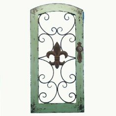 "32-1/4"" Fleur De Lis Door Wall Decor by Chesapeake Bay. $55.79. Fleur De Lis Door Style Wall Decor Is 15-3/4 X 2 X 32-1/4 Inches In Size Made of Wood And Metal"