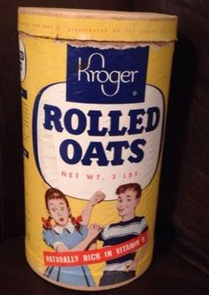 Cereal Containers, Oat Cereal, Rolled Oats, Vintage Advertisements, Coffee Cans, Cincinatti Ohio, Tin, Ebay Mobile, Advertising