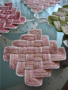 Woven Crocheted Square