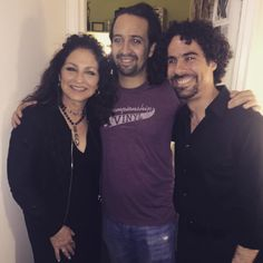 """""""So lucky to get this ticket! Congratulations @hamiltonmusical"""" the singer (whose life story is currently on Broadway in the show On Your Feet) shared on Instagram. She Instgrammed this pic with Lin-Manuel Miranda and musical director Alex Lacamoire."""