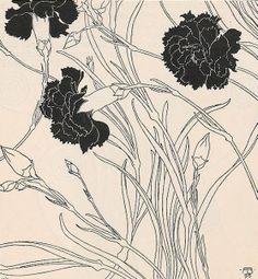 Adolf Bohm. 'Nelken' illustration, 1899.