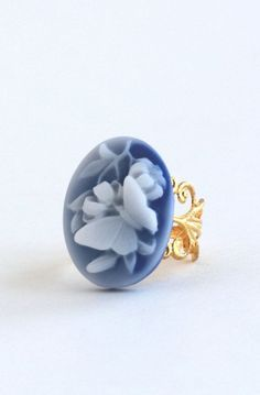 Statement Ring, Blue Butterfly