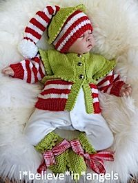 KNITTING PATTERN  KSB 59  *** CHRISTMAS BABIES (NO 3) IN SIZES 0/3, 3/6 AND 6/12