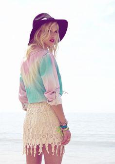 tie dye pastels..