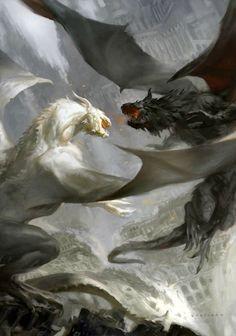 Nila e Mita, os Dragões Gêmeos. Presente do Rei de Estora aos seus dois filhos…